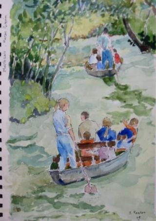 Promenade en Barque à Maillezais. Maille11