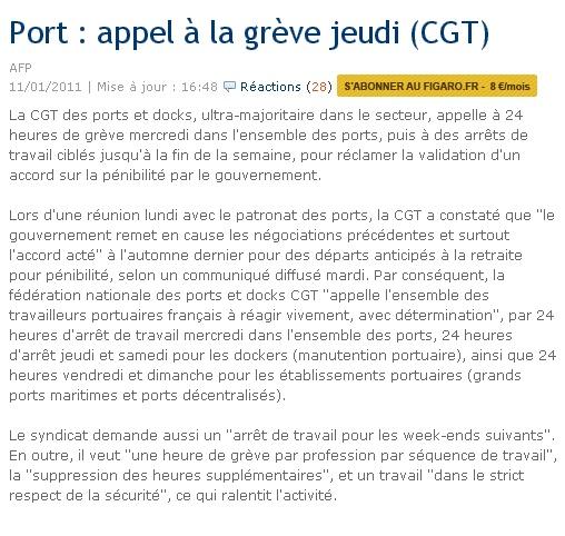 CONFLIT PORTUAIRE/ DOMMAGES COLLATERAUX  Greve_10