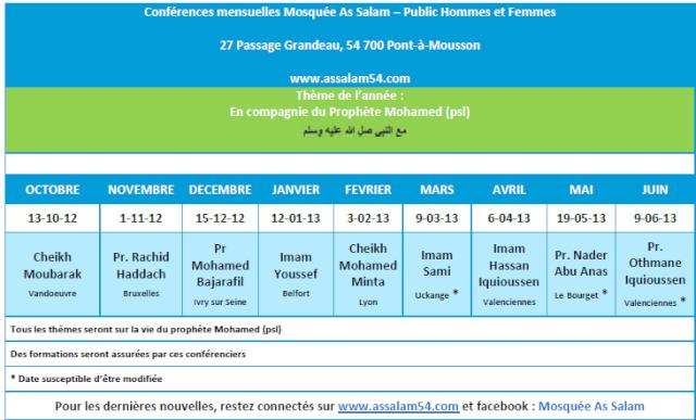Programme 2012-2013 à la Mosquée As Salam Conf_11