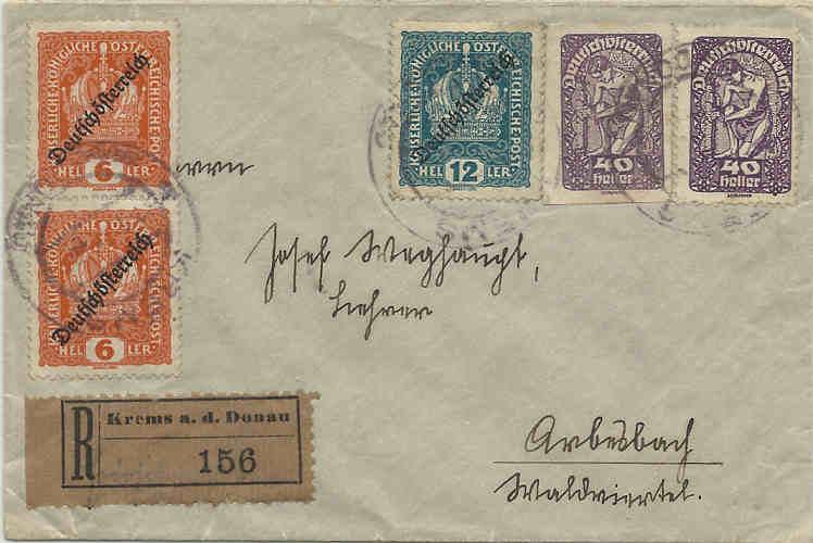 Inflation in Österreich - Belege - 1918 bis 1925 15021910