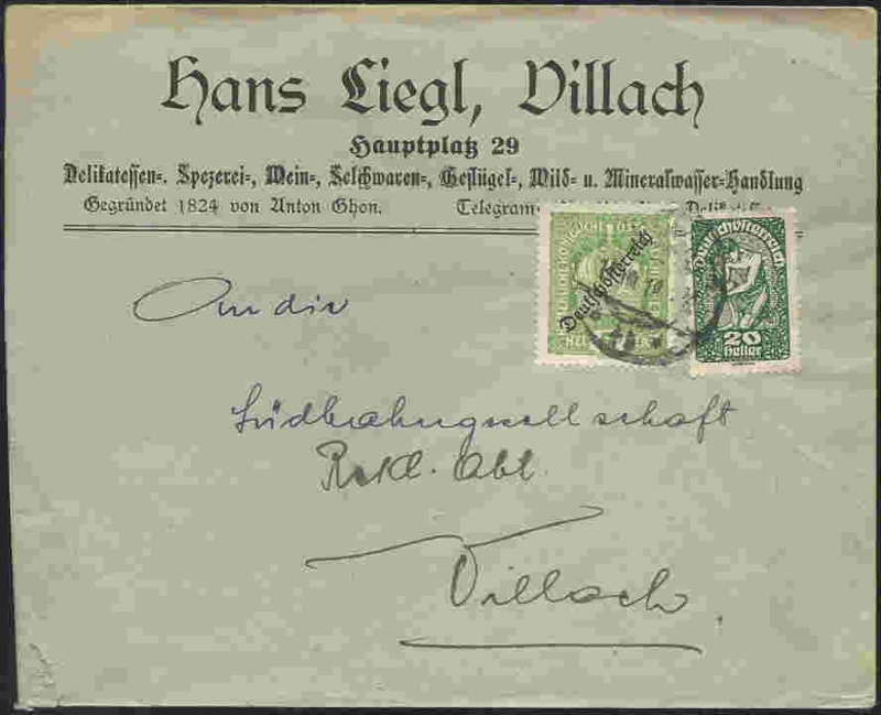 Inflation in Österreich - Belege - 1918 bis 1925 19190810