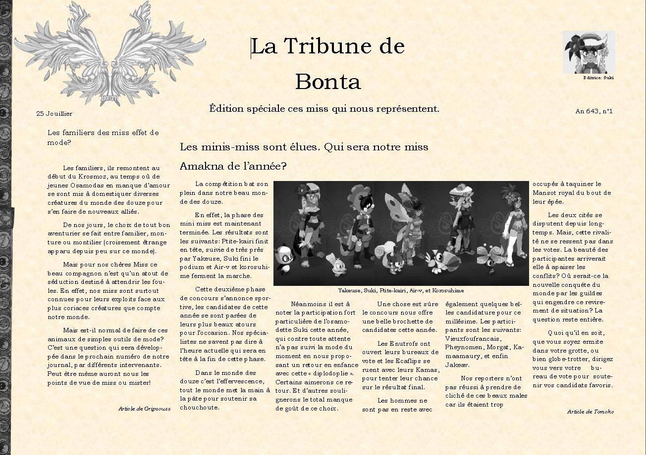 La tribune de Bonta. 1er édition. 1er_ad11