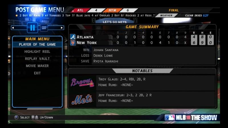 STENGEL CHAMPIONSHIP SERIES - Braves v. Mets - Thursday July 15 at 9:30p Through Thursday July 22 at 9:30p - Braves win 4-2 00210
