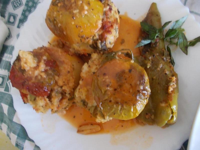 Tomates vertes et poivrons farcis, cuits au four! 46621210