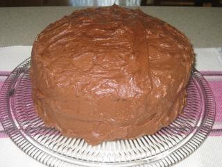 Gâteau au chocolat avec glaçage au beurre  Gateau10
