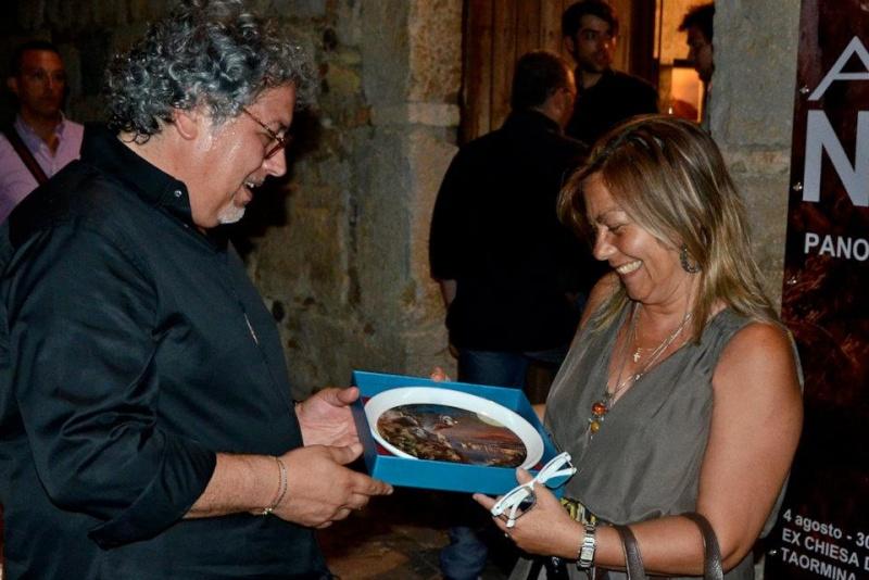 """MOSTRA A TAORMINA; """"Viaggio a Taormina"""" 4-30 Agosto 2012 Fondazione Mazzullo. Anteprima di alcune opere del maestro.. 29248510"""