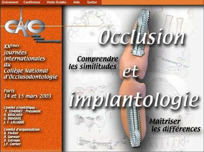 Occlusion et implantologie CNO 2003 56171710
