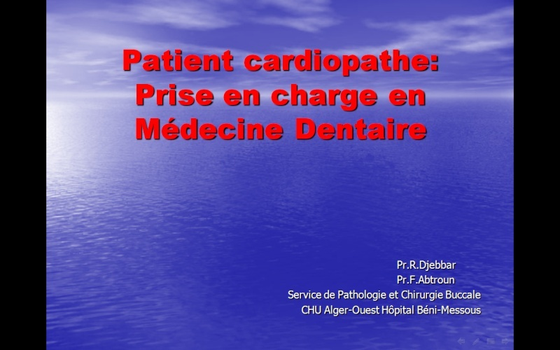 dentaire - Patient cardiopathe :  prise en charge en médecine dentaire Cardio10