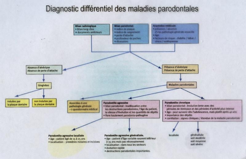 Diagnostic différentiel des maladies parodontales : Arbre décisionnel D2-par12