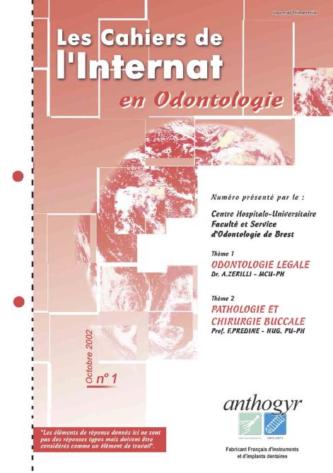 internat - Les cahiers de l'internat en odontologie. Inter110