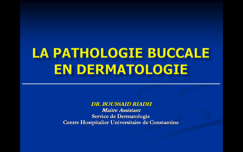 buccale - La pathologie buccale en dermatologie Patho10