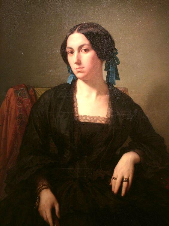 Tentative de retrouver un tableau d'après un portrait de femme renaissance 32c6db10