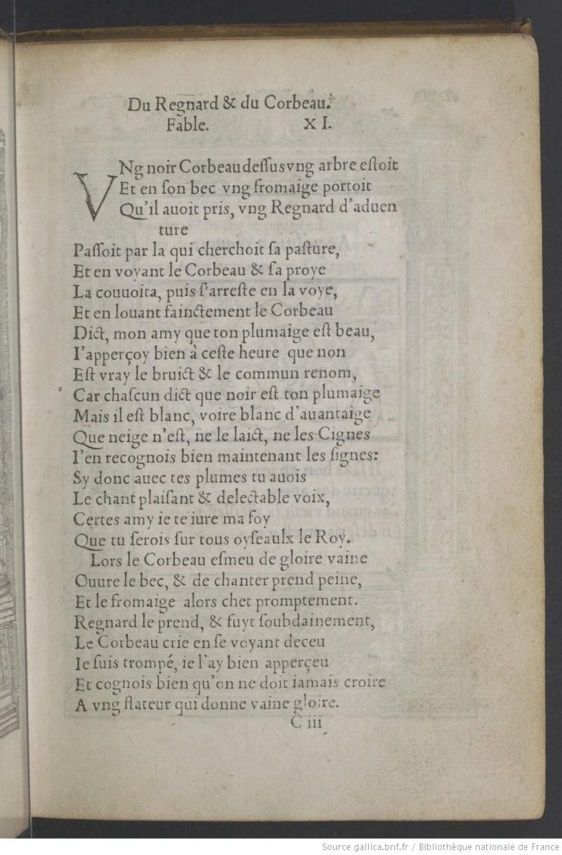 Fables de La Fontaine et leurs origines Corbea11