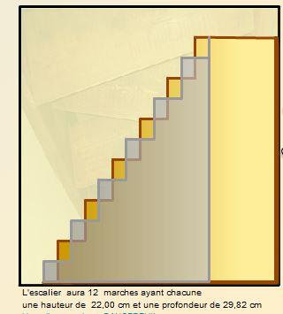 Escalier japonais à pas décalés Escali13