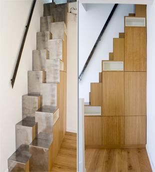Escalier japonais à pas décalés Escali17