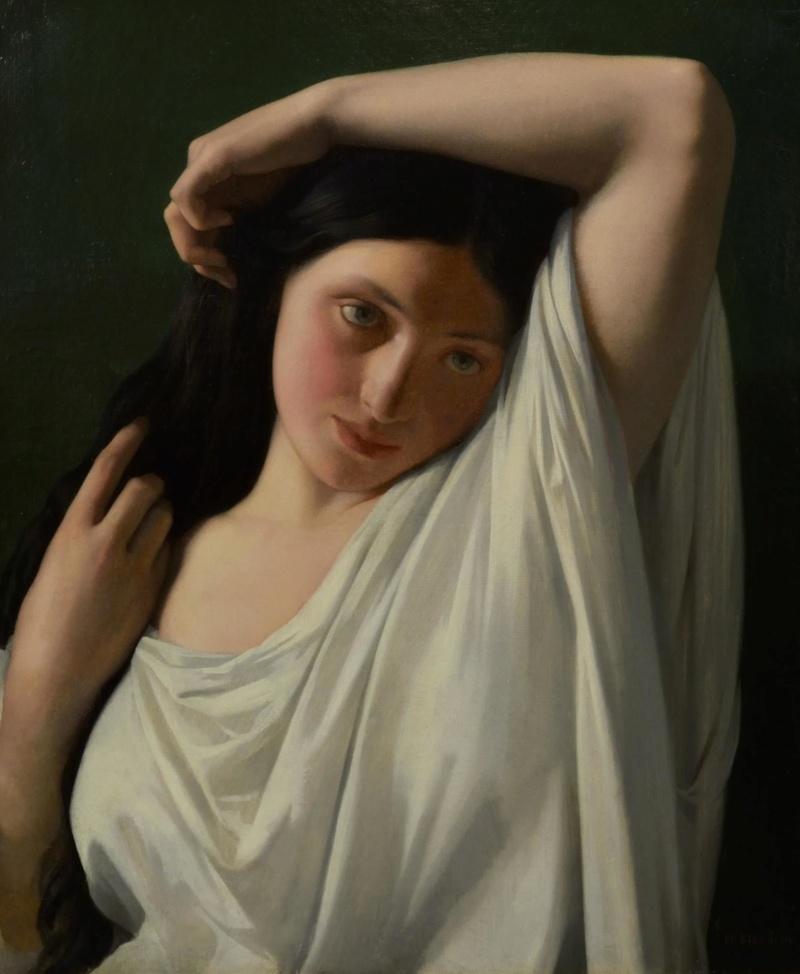 Tentative de retrouver un tableau d'après un portrait de femme renaissance Floren10