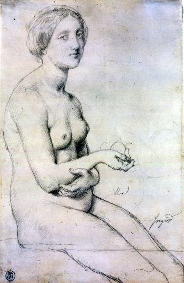 Tentative de retrouver un tableau d'après un portrait de femme renaissance Ingres12
