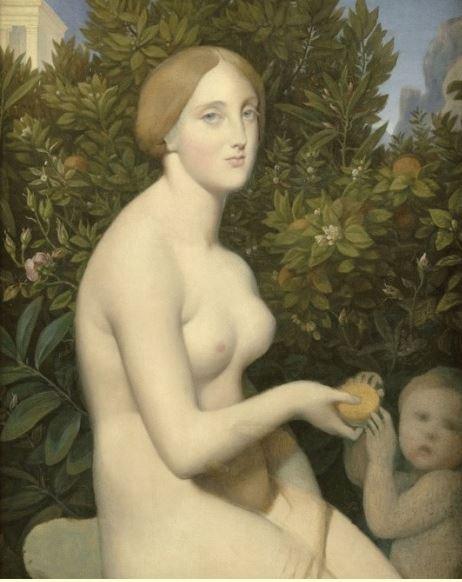 Tentative de retrouver un tableau d'après un portrait de femme renaissance Ingres13