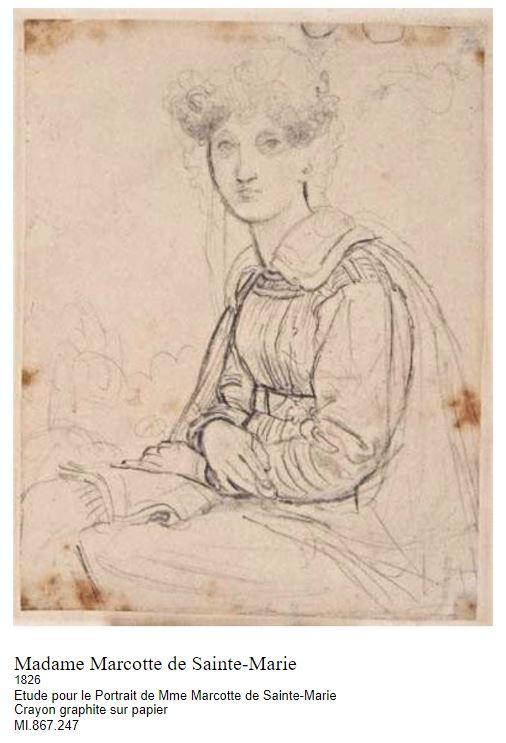 Tentative de retrouver un tableau d'après un portrait de femme renaissance Ingres19