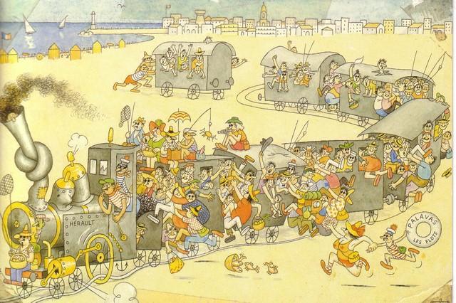 Dubout illustrateur (1905-1976) Train_10