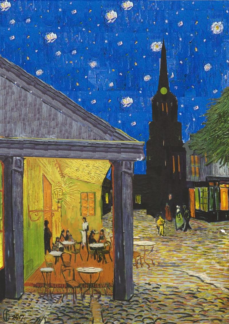 Et si Van Gogh était venu lui-aussi à La Bazouge? (Collages et pastiches) Y_189011
