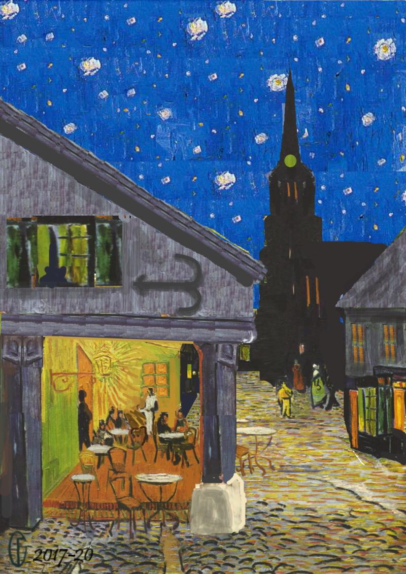 Et si Van Gogh était venu lui-aussi à La Bazouge? (Collages et pastiches) Y_189012