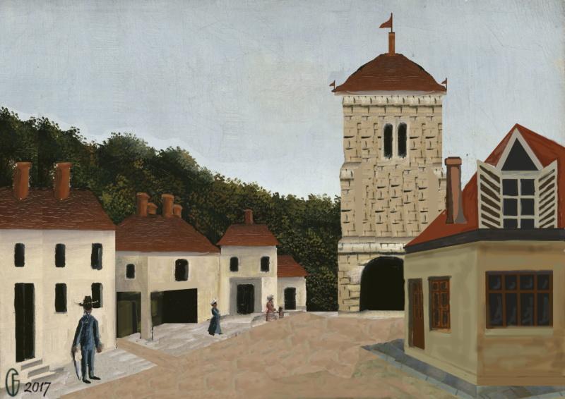 Et si Van Gogh était venu lui-aussi à La Bazouge? (Collages et pastiches) Y_190910