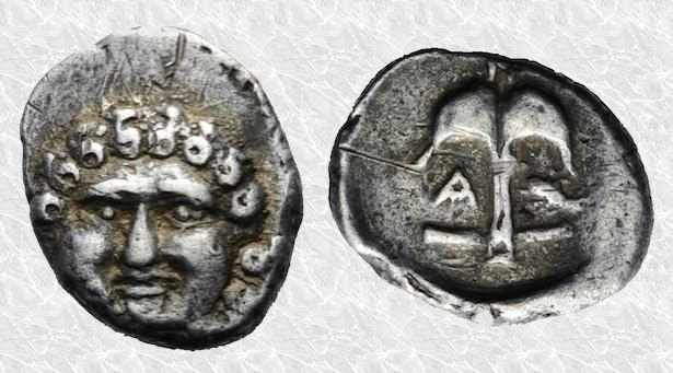 """Dracma """"reducido"""" de Apollonia Póntica. Siglo V a.C. 184"""