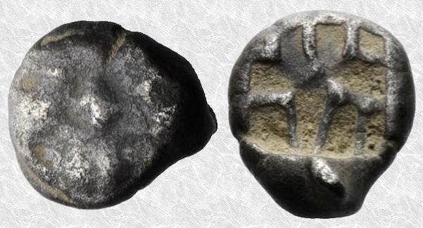 Tetróbolo (2/3 de dracma) de Parión (Misia, siglo V a.C.) 185