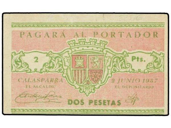 Billetes del Ayuntamiento de Calasparra (Murcia). Guerra Civil 259