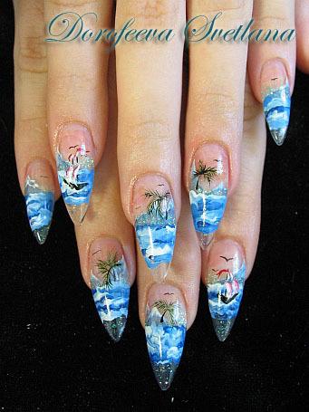 Фотографии интересных дизайнов ногтей _1_110