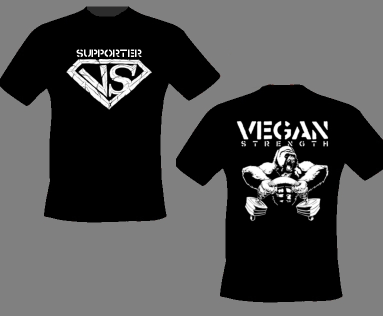 Vegan Strength Supporter Shirts Vsgshi10