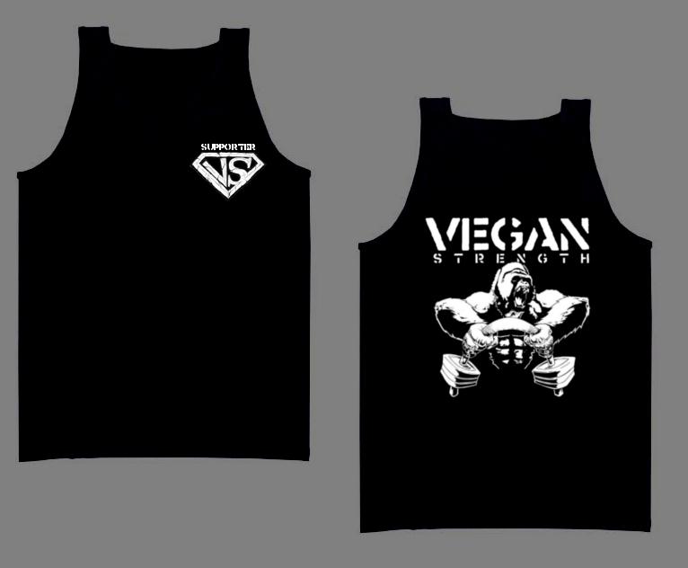 Vegan Strength Supporter Shirts Vsgtan10