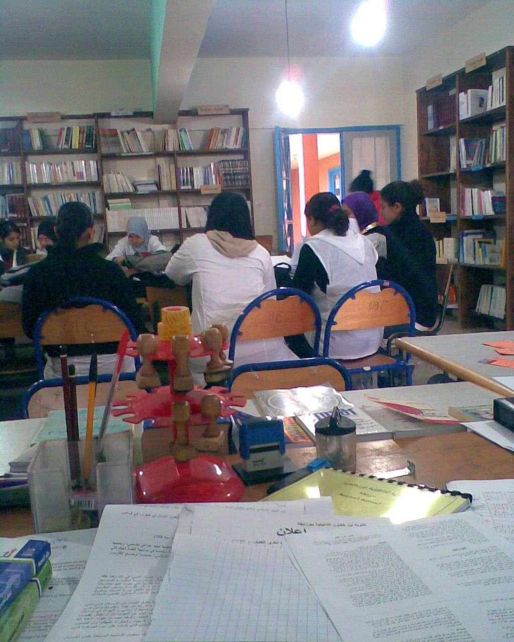 من أنشطة المكتبة المدرسية Photo011