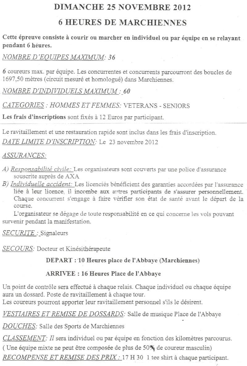 6 heures de Marchiennes: 25 novembre 2012 Numari35