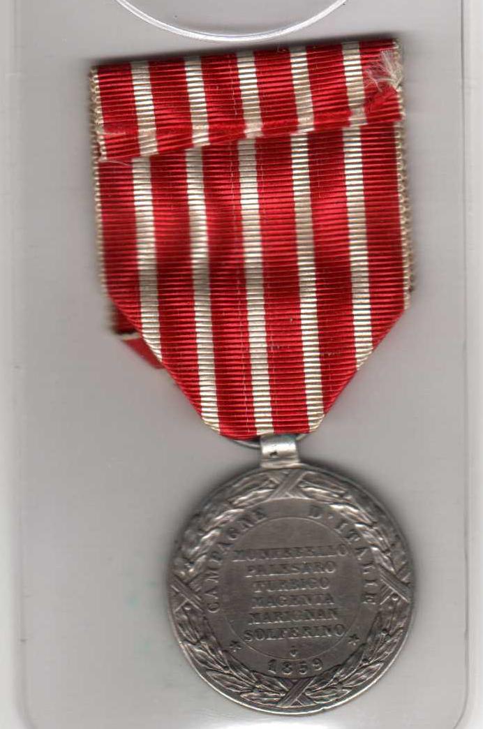 Médaille commémorant la campagne d'Italie de Napoléon III Sans_t11