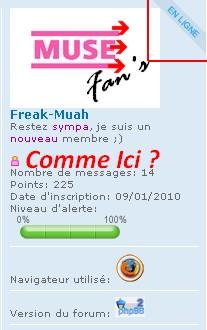 """""""en ligne"""" dans le profil dans le message forum Comme_10"""