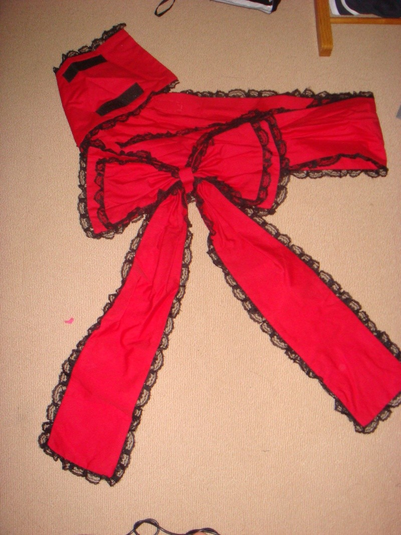 Red Black Lace Kimono [Seller] Dsc02011