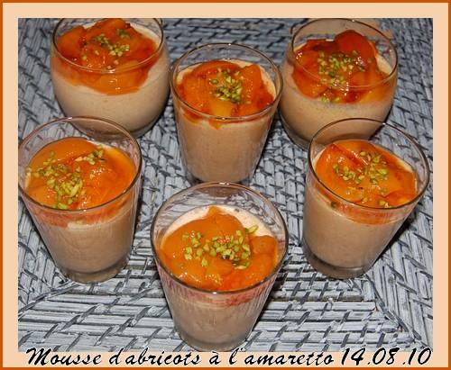 Mousses d'abricots à l'amaretto  Samedi10