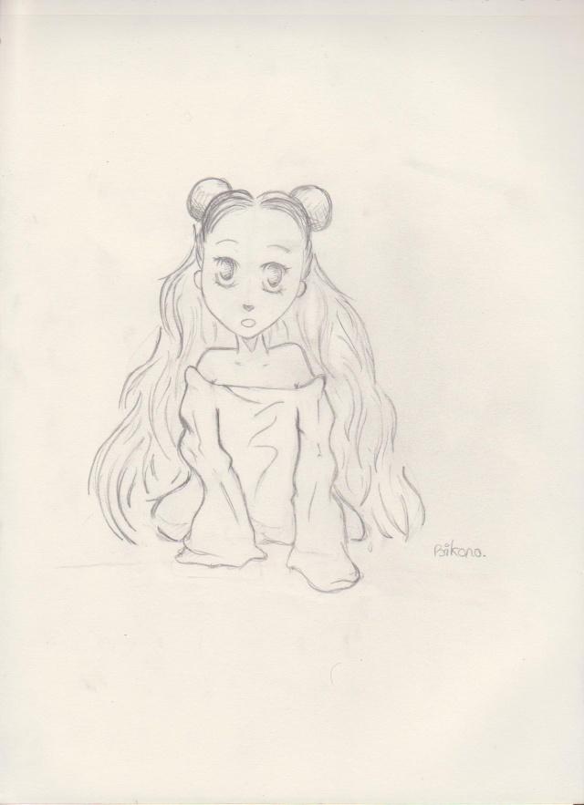 petite fille (bikono) Dessin15