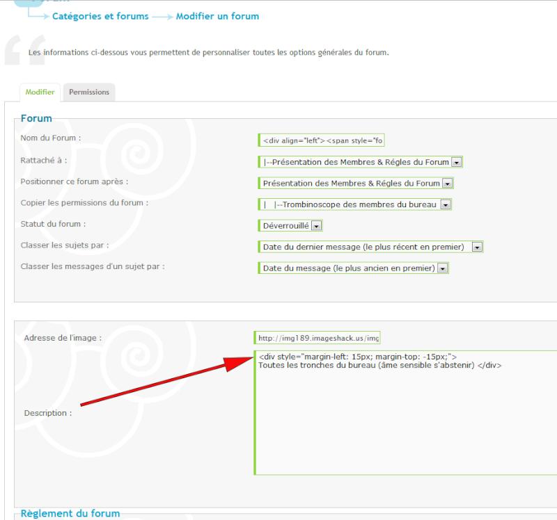 Alignement  texte & icônes dans les catégories forums Code110