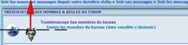 Alignement  texte & icônes dans les catégories forums Presen10