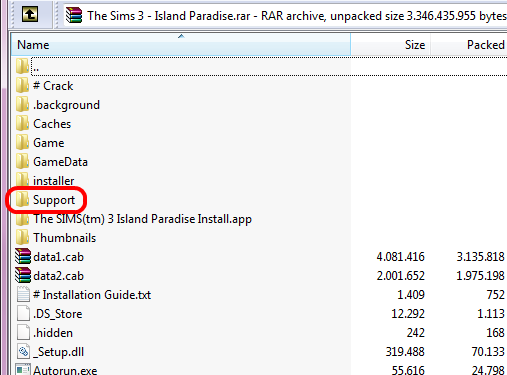 """Island Paradise """"Error with The Sims 3 update.  Setup is unable to continue."""" fix. 210"""
