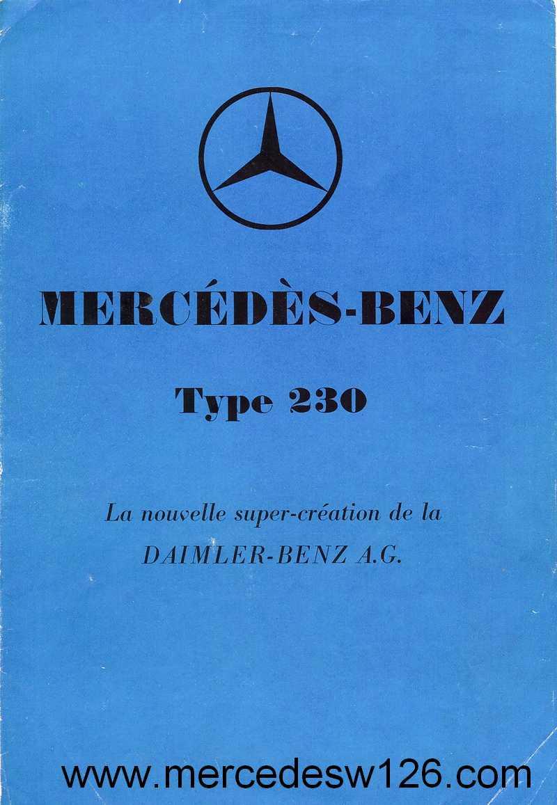 Catalogue de 1936 sur les Mercedes W143 230 W143_p11