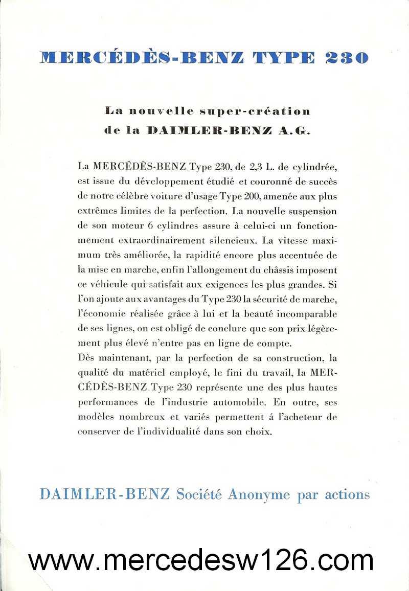 Catalogue de 1936 sur les Mercedes W143 230 W143_p12