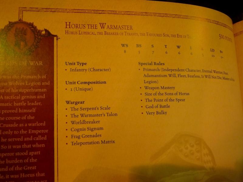 "News Forge World ""Horus Heresy"" Horus110"
