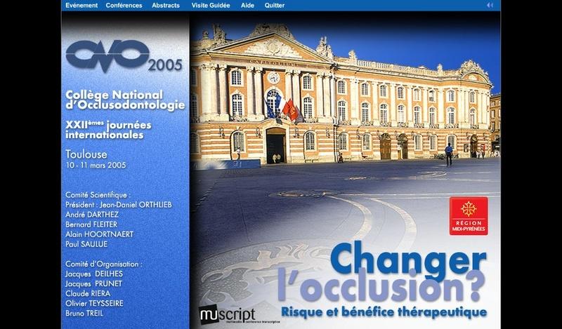 """Les Journées du CNO 2005 à télécharger """"changer l'occlusion risque bénéfice """" 2005r10"""