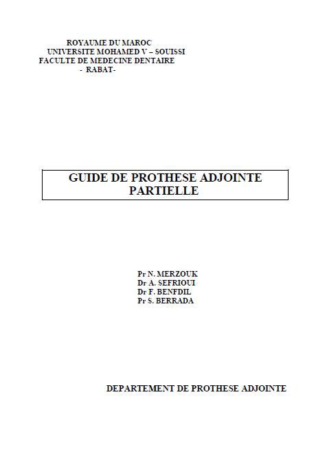 GUIDE DE PROTHESE ADJOINTE PARTIELLE Sans_f10