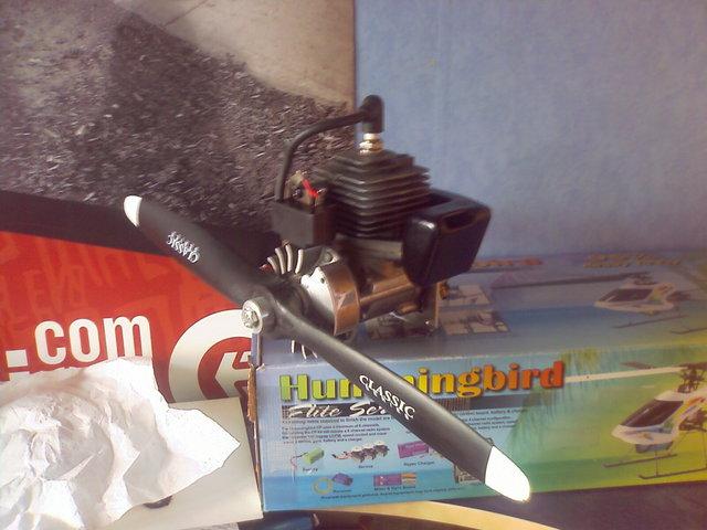 construction avion avec moteur  debroussailleuse   210