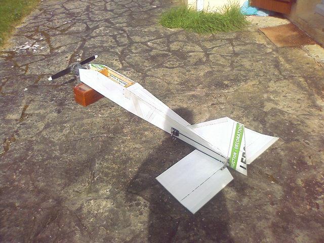 construction avion avec moteur  debroussailleuse   510